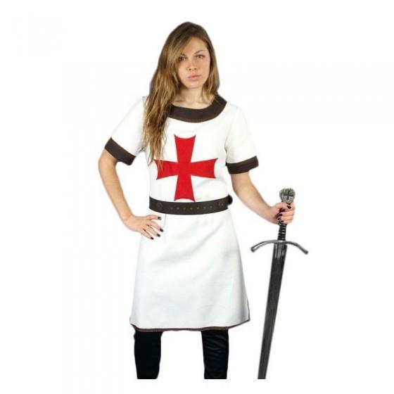 Vestido de mulher guerreira Templários