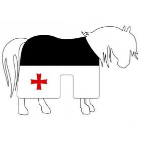 Gualdrapa Templar preto branco