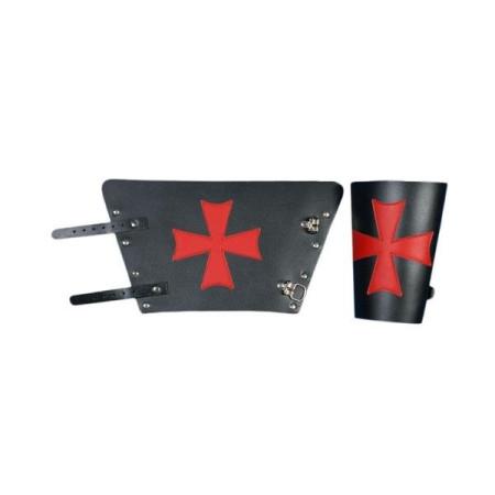 Templar leather bracelet