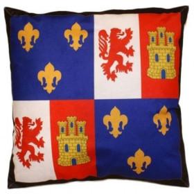 Almofada de escudo medieval (50x50 cms.)