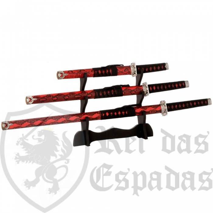 OFFER-Set composed of Katana, Wakizashi and Tanto with Support