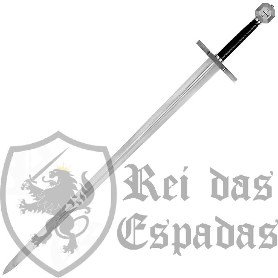 Espada Templária EN45 da marca e qualidade de museu, John Barnett
