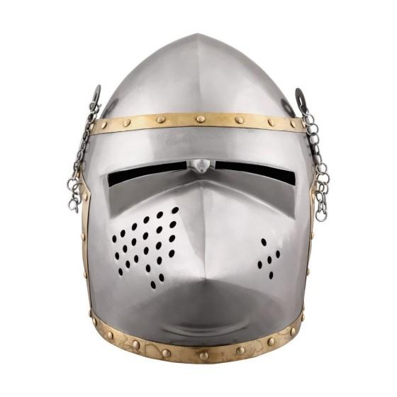 Bacinete churburg style , year 1390 - 3