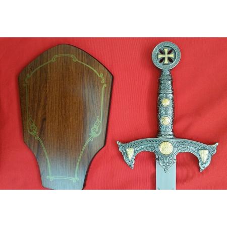 Espada templaria con soporte