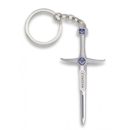 Freemasonry sword keychain