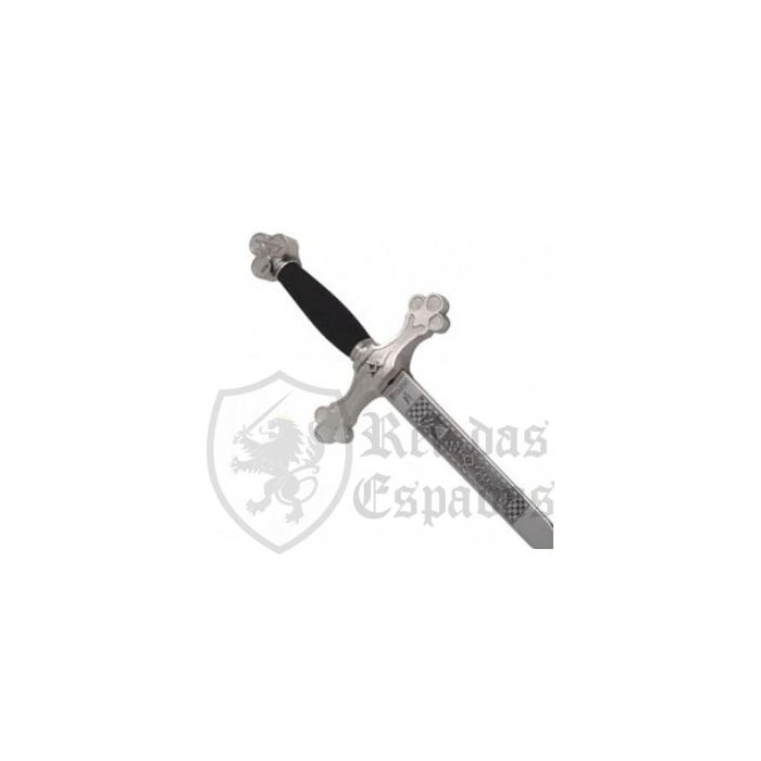 Masonic Sword with Black and Silver Handle - 1