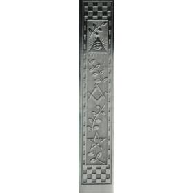 Espada Maçónica com cabo preto e Prata - 2