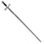 Espada Maçónica com cabo preto e Prata - 3