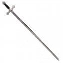Masonic Sword with Black and Silver Handle - 3