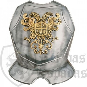 Breastplate with relief and written for armor