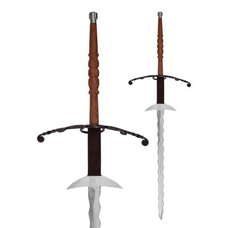 2 flammenden Händen Schwert