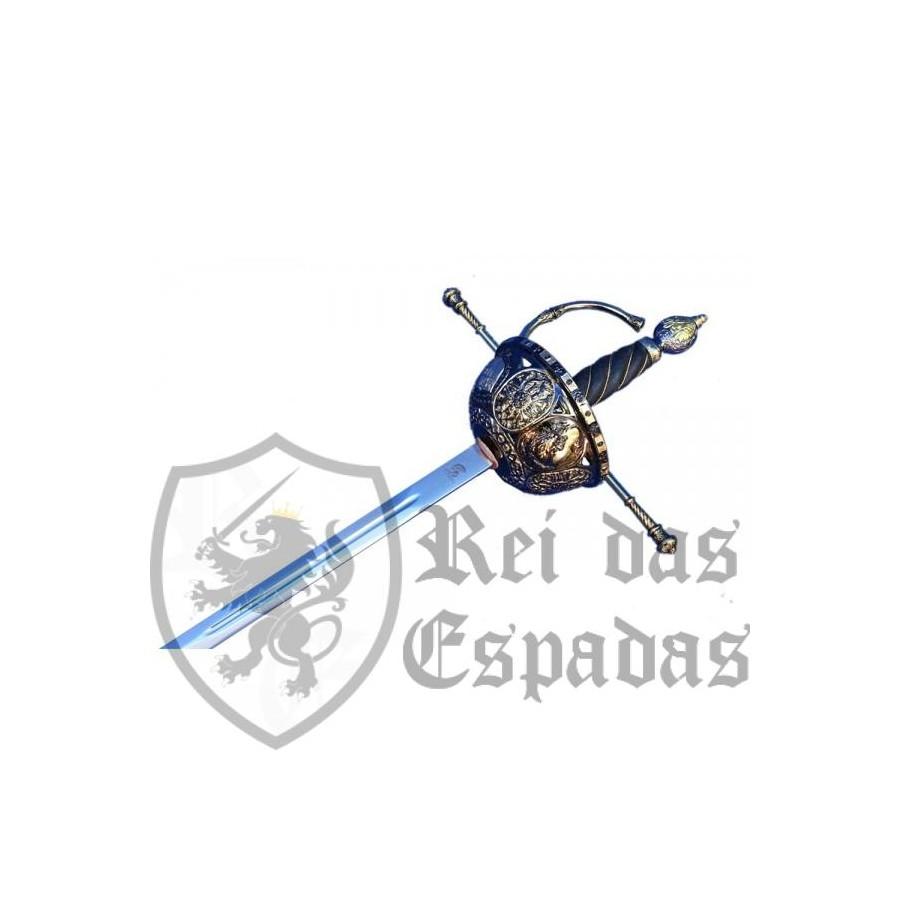 Espada Cazoleta Espanhol, S. XVI Preto-Dourado