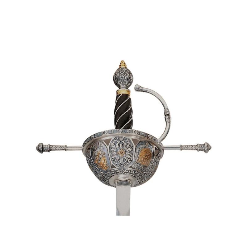 Espada Cazoleta S. XVI Decorado